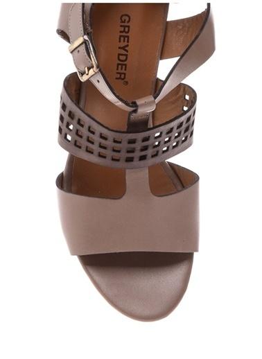 Greyder Greyder 5597 Kadın Deri Topuklu Ayakkabı Siyah
